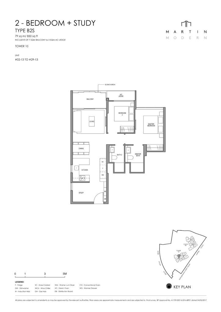 martin-modern-floorplan-singapore-condo-2-bedroom-plus-study-layout-850sqft-district-9-condo-new-launch