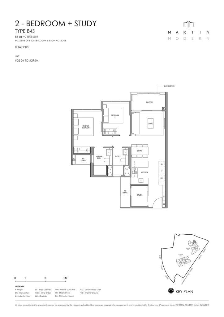 martin-modern-floorplan-singapore-condo-2-bedroom-plus-study-layout-872sqft-district-9-condo-new-launch