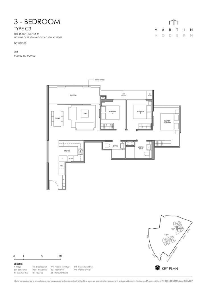 martin-modern-floorplan-singapore-condo-3-bedroom-layout-1087sqftsqft-district-9-condo-new-launch